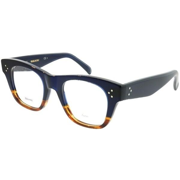 33ed14dfb9e Celine Square CL 41361 Cathrine Small QLT Unisex Havana Blue Frame  Eyeglasses