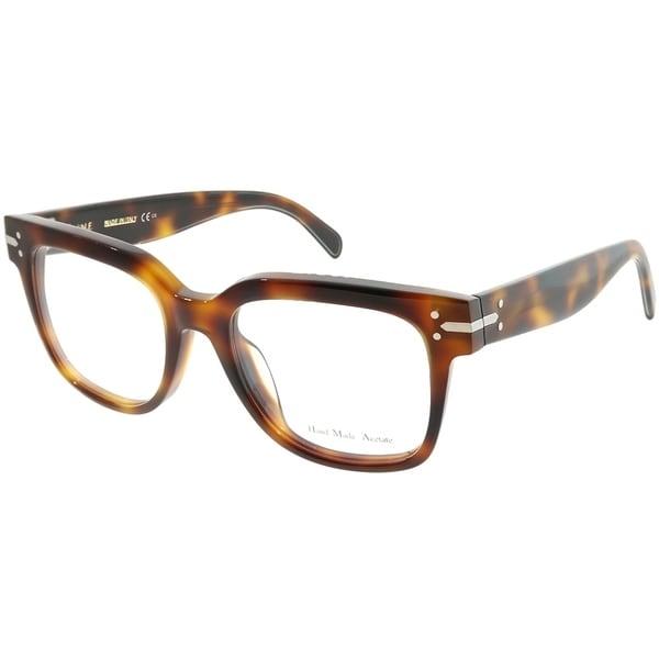13490622a4 Shop Celine Square CL 41359 Frida 05L Unisex Havana Frame Eyeglasses ...