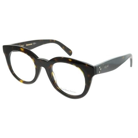 Celine Square CL 41363 Clara 086 Unisex Dark Havana Frame Eyeglasses