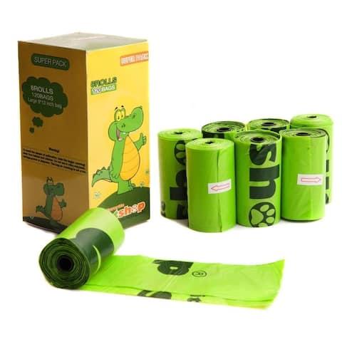 Favorite Green Basic Dog Waste Pet Poop Bags, 120-Count, Refill Rolls