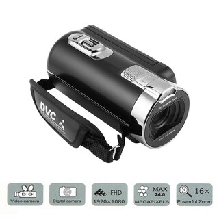 Digital Camera Camcorders 1080P 24 MP 16X Zoom 270 Degree Rotation Screen