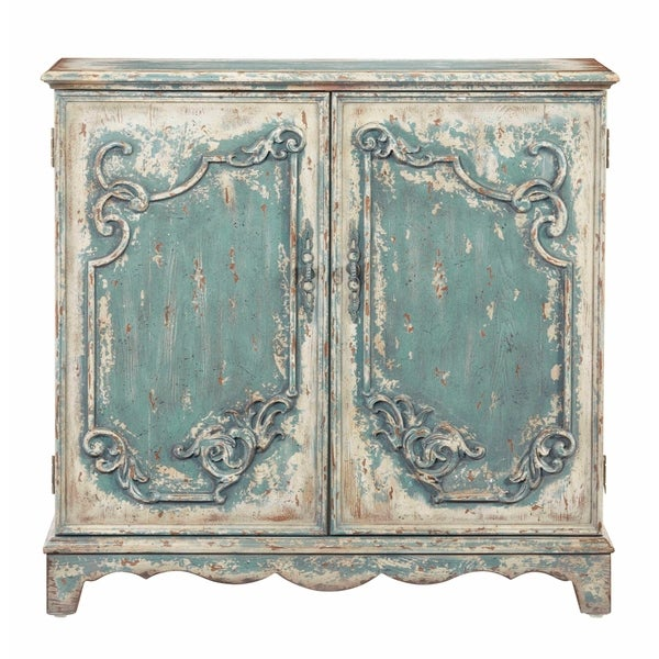Shop Progressive Antique French Blue Wood Finish Credenza/Console Cabinet -  Free Shipping Today - Overstock.com - 22734639 - Shop Progressive Antique French Blue Wood Finish Credenza/Console