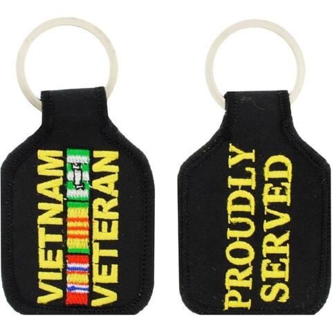 Vietnam Veteran Service Ribbon Embroidered Key Chain