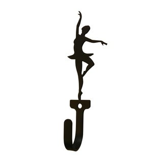 Village Wrought Iron Ballerina Woman's/Girl's Decorative Wall Hook - Small