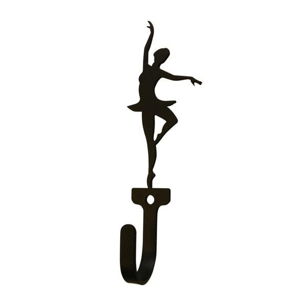 Village Wrought Iron Ballerina Woman's/Girl's Decorative Wall Hook - Small