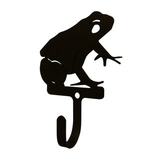 Village Wrought Iron Decorative Frog Wall Hook - Small