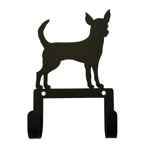 Village Wrought Iron Decorative Chihuahua Leash and Collar Wall Hook