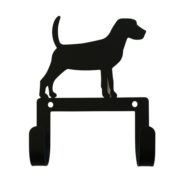 Village Wrought Iron Decorative Beagle Leash and Collar Wall Hook