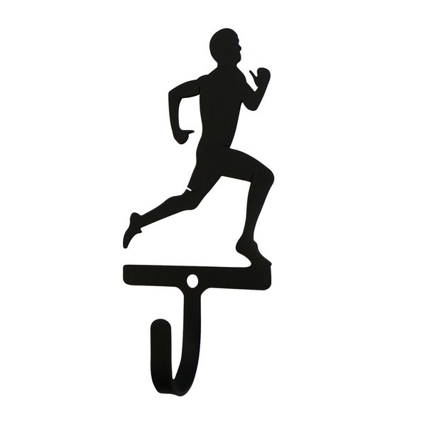 Village Wrought Iron Runner Men's/Boy's Decorative Wall Hook - Small