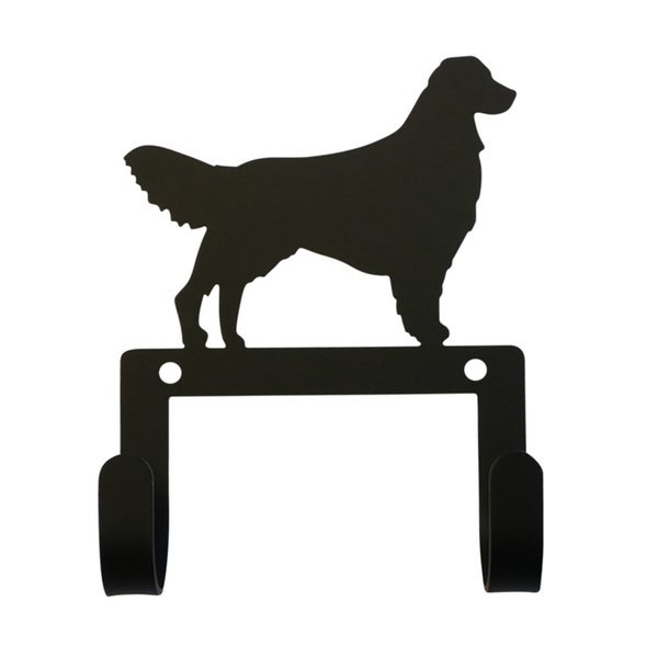 Village Wrought Iron Decorative Retriever Leash and Collar Wall Hook