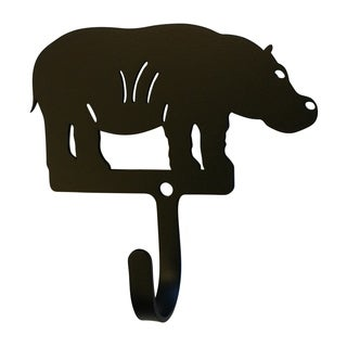 Village Wrought Iron Decorative Hippo Wall Hook - Small
