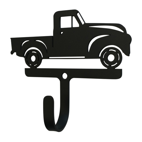 Village Wrought Iron Decorative Antique Truck Wall Hook - Small