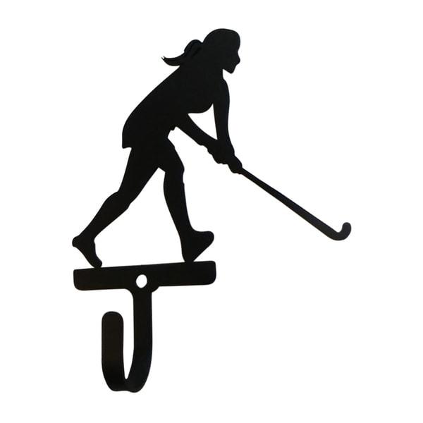 Village Wrought Iron Field Hockey Woman's/Girl's Decorative Wall Hook - Small