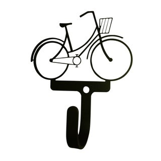 Village Wrought Iron Bicycle Woman's/Girl's Decorative Wall Hook - Small