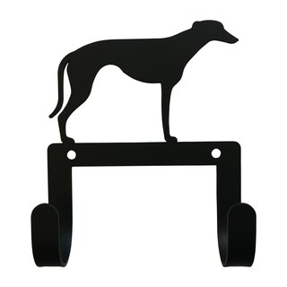 Village Wrought Iron Decorative Greyhound Leash and Collar Wall Hook