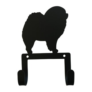 Village Wrought Iron Decorative Chow Chow Leash and Collar Wall Hook
