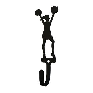 Village Wrought Iron Cheerleader Woman's/Girl's Decorative Wall Hook - Small