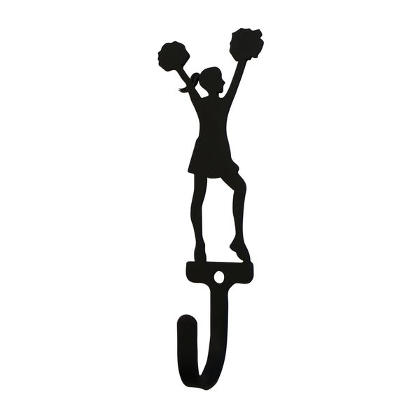Village Wrought Iron Cheerleader Woman's/Girl's Decorative Wall Hook - Small