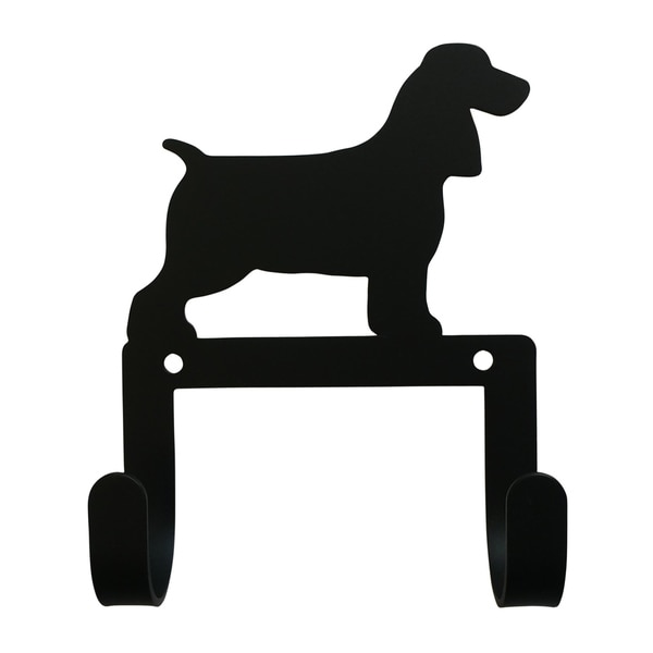 Village Wrought Iron Decorative Spaniel Leash and Collar Wall Hook