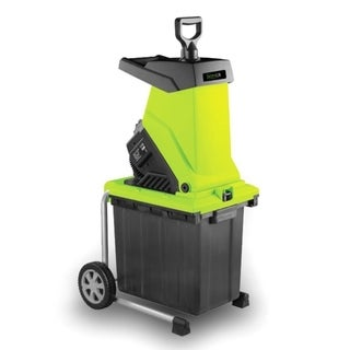SereneLife Garden-Shredder-Electric/Collection-Bin-Chipper-Leaf-Mulcher-Rolling