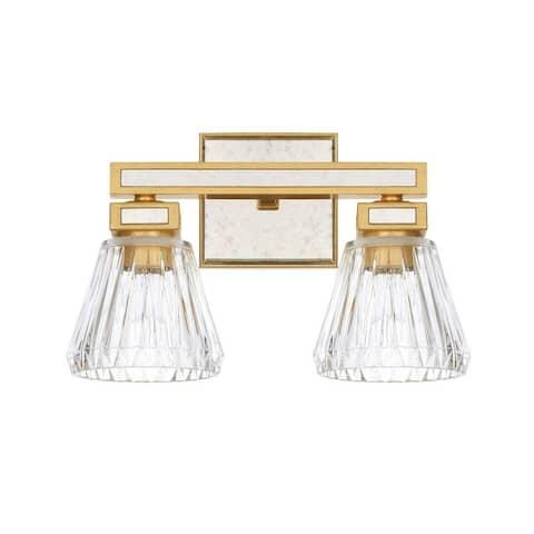 Abella 2-light Gold Bath/Vanity Light