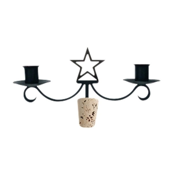Village Wrought Iron Decorative Star Wine Bottle Topper