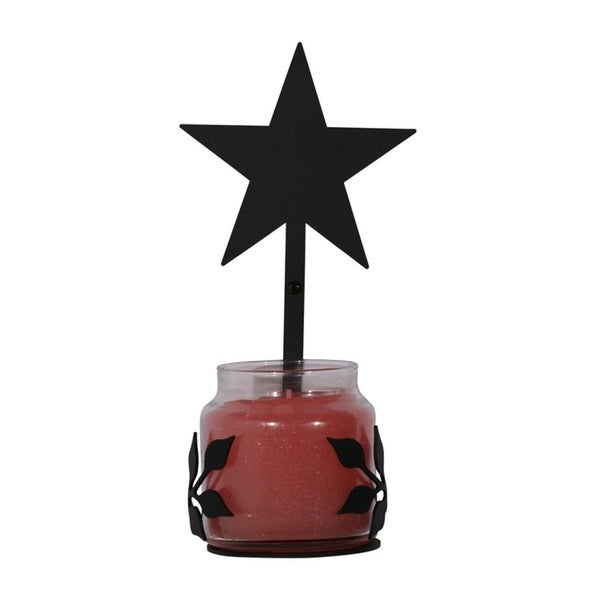 Village Wrought Iron Decorative Star Jar Sconce - Large