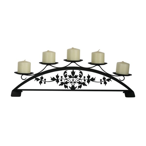 Village Wrought Iron Victorian Table Top Pillar Candle Holder
