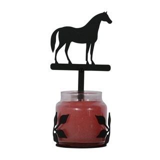 Village Wrought Iron Decorative Standing Horse Jar Sconce - Large