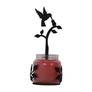 Village Wrought Iron Decorative Hummingbird Jar Sconce - Large