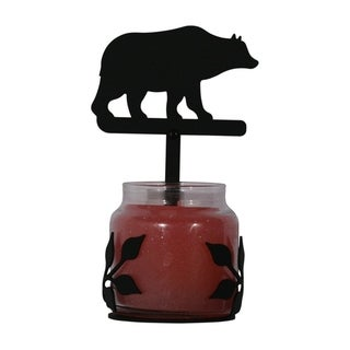 Village Wrought Iron Decorative Bear Jar Sconce - Large