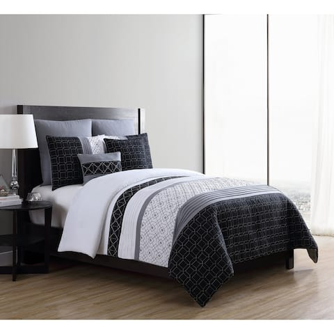 VCNY Home Winston Embroidered Comforter Set