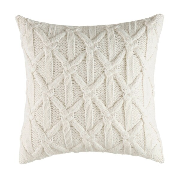 Nautica Clearview Lattice Knit Throw Pillow