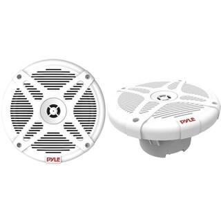 Pyle PLMRF65MW 600W Dual 6.5 Inch Waterproof-Rated Bluetooth Marine Speakers, 2-Way Amplified Speakers