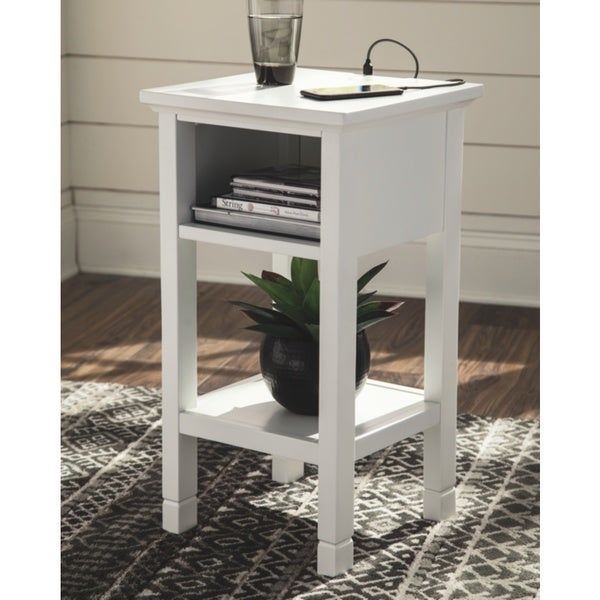 Marnville White Contemporary Accent Table