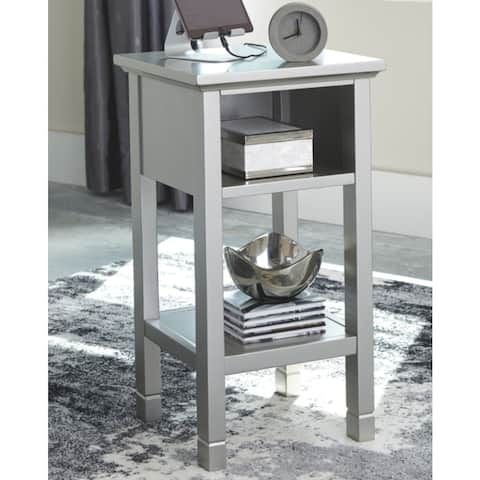 """Marnville Silver Contemporary Accent Table - 14"""" W x 14"""" D x 26"""" H"""