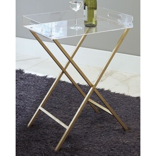 Signature Design by Ashley Ervinville Gold/Clear Accent Table