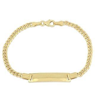 Miadora 10k Yellow Gold Children's Curb Link Engraveable ID Bracelet