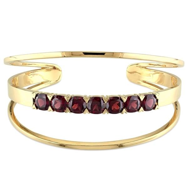 New Silver Plated Garnet Cuff Bracelet Bangel Jewelry Jewelry & Watches