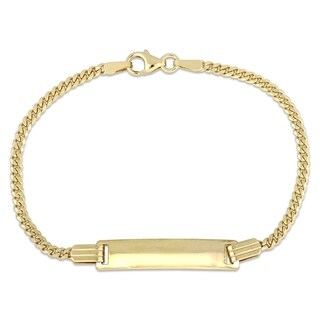 Miadora 10k Yellow Gold Children's Engraveable ID Bracelet