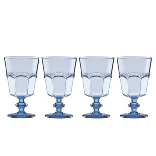Lenox French Perle Melamine Blue Acrylic Wine, Set of 4