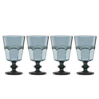 Lenox French Perle Melamine Aqua Acrylic Wine, Set of 4