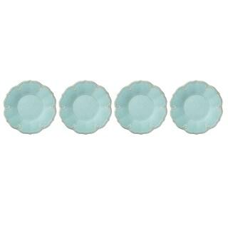 Lenox French Perle Melamine Aqua Dinner Plate, Set of 4