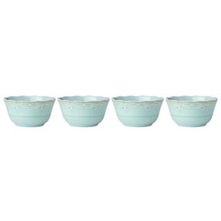 Lenox French Perle Melamine Aqua All Purpose Bowls, Set of 4