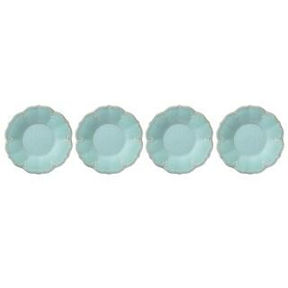 Lenox French Perle Melamine Aqua Accent Plate, Set of 4