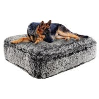 Bessie & Barnie Midnight Frost Ultra Plush Faux Fur Luxury Shag Durable Sicilian Rectangle Pet/Dog Bed