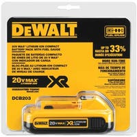 Dewalt 20V SLIM PACK BATTERY - Black