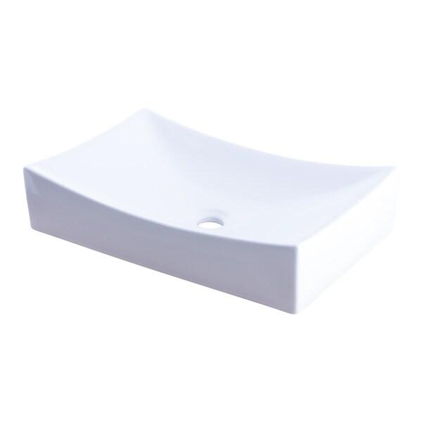 Shop Novatto Modern White Porcelain Vessel Sink No Overflow Free