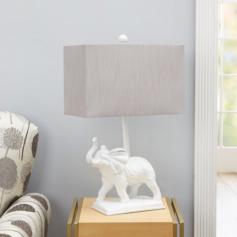 Elliott Elephant Table Lamp with Rectangular Shade