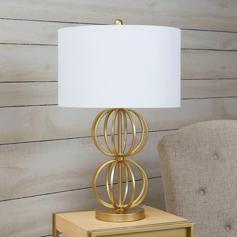 Jolie Stacked Orb Table Lamp with Shade - Gold